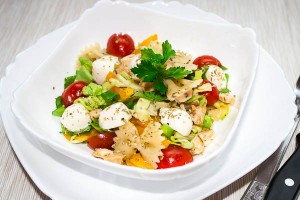 Pasta salad with chicken