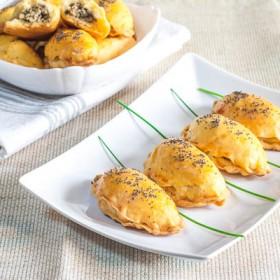 Chicken and mushrooms dumplings
