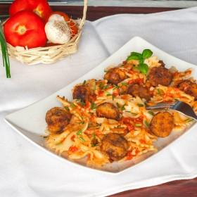 Meatballs pasta