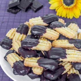 Delicious spritz cookies in a European style