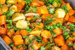 Cartofi Dulci cu Ciuperci la Cuptor